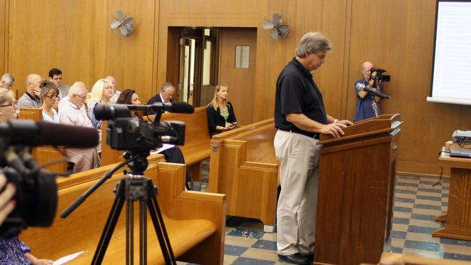 Ken Miller recommends the Grayson County Commissioners enact a burn ban in 2012.