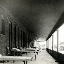 Sleeping porches, such as this one at the Ford Hotel, were an early answer to Arizona's summer heat.