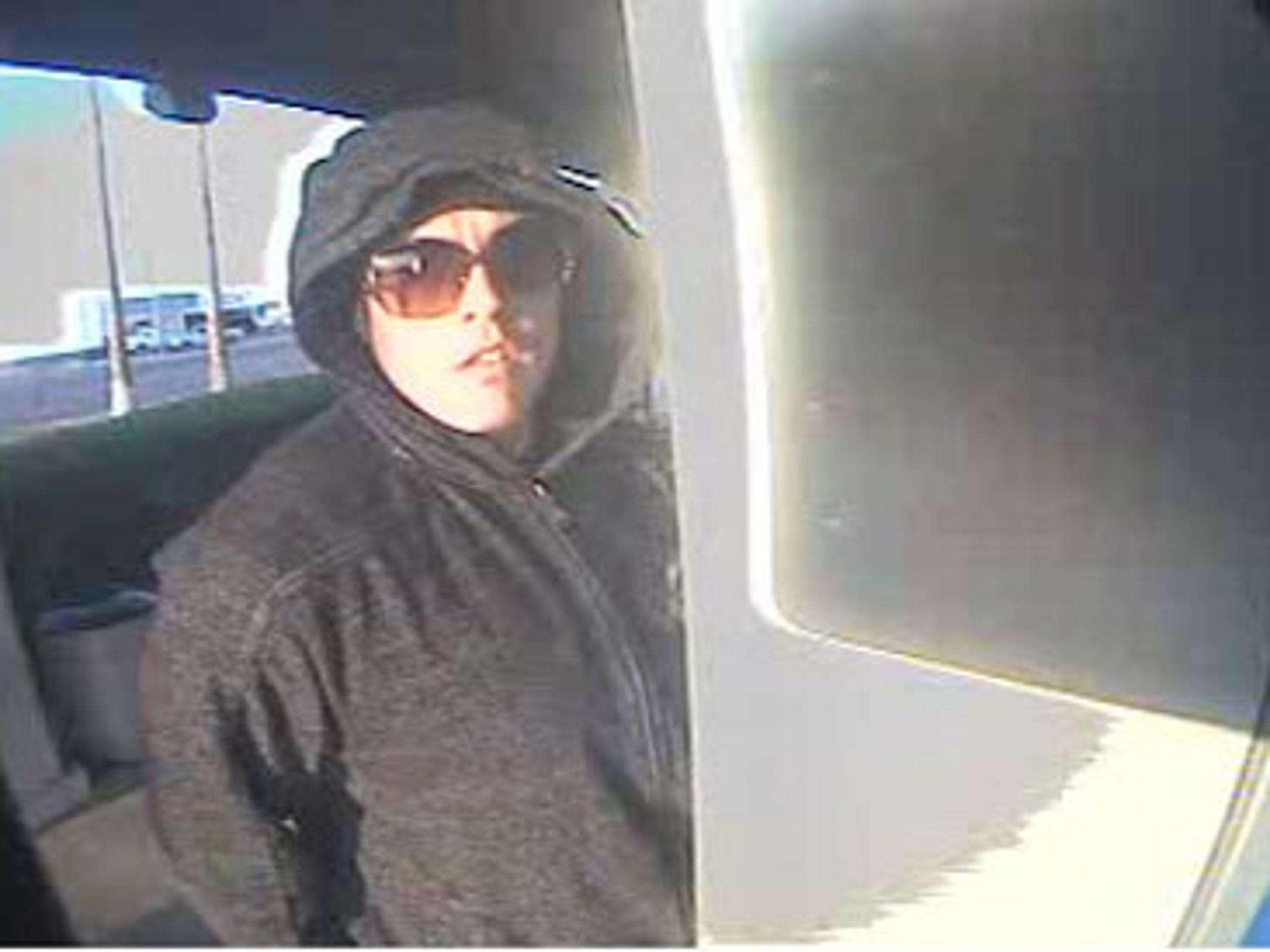 An ATM surveillance camera at the Chase Bank branch in Peoria captures Billy Wayne Brymer III shortly before the robbery on Feb. 29, 2012.