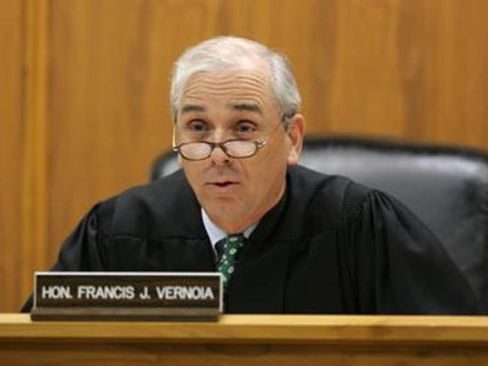 Judge Francis J. Vernoia is shown in Superior Court