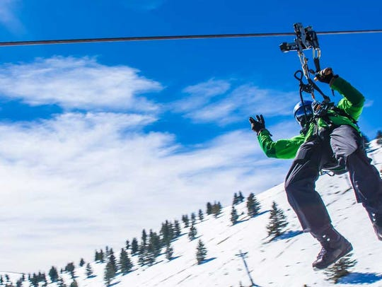 Try the Wind Rider zip-line tour at Ski Apache Resort.