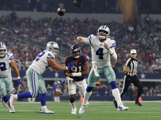 Dak Prescott, a former Mississippi State player, is the starting quarterback for the Dallas Cowboys.