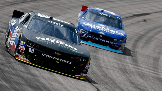 Louisville's Ben Rhodes completed his first NASCAR Xfinity Series race on Sunday at the Iowa Speedway.