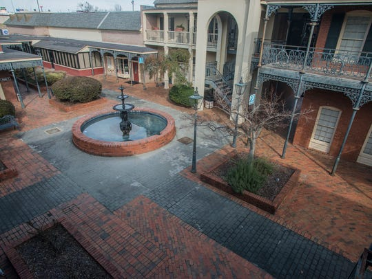 The courtyard outside the Montgomery Ballet studio