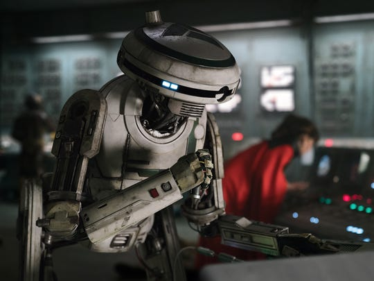 "Played via performance-capture by Phoebe Waller-Bridge, L3-37 is a droid very much into equal rights in ""Solo: A Star Wars Story."""