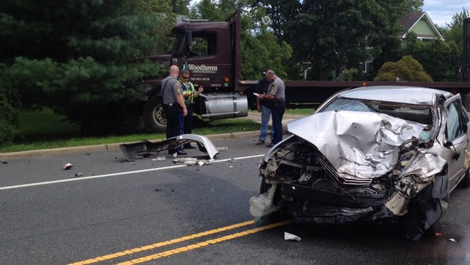 Crash scene at Whitty and Old Freehold roads in Toms River