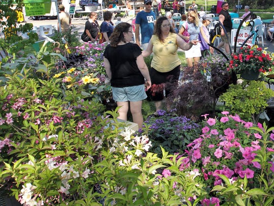 People look for plants to add to their gardens at home while at the Paine Art Center and Garden's annual Festival of Spring event in 2012. This year's event is May 18.