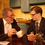 """Bernie Sheredy and Josh Sedelmeyer star in the KNOW Theatre production of """"Visiting Mr. Green,"""" which opens Friday night."""