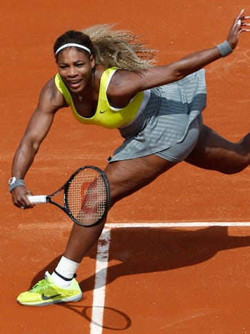In this May 25, 2014, file photo, Serena Williams makes