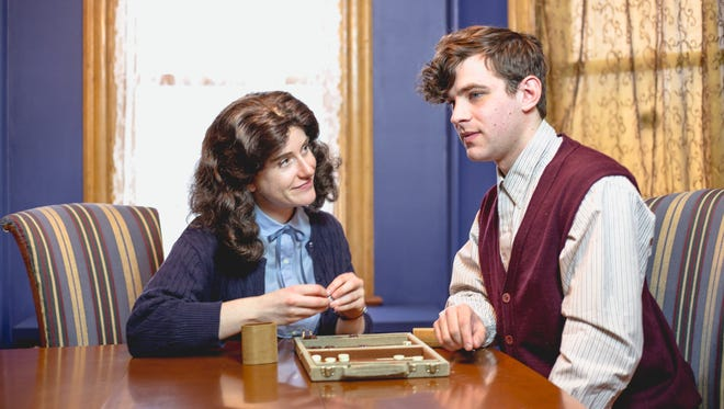 """Emily Wexler as Anne Frank and Ben Mulgrew as Peter Van Pels are shown in """"Yours, Anne,"""" running weekends through April 2 at Half Moon Theatre at The Culinary Institute of America's Marriott Pavilion."""