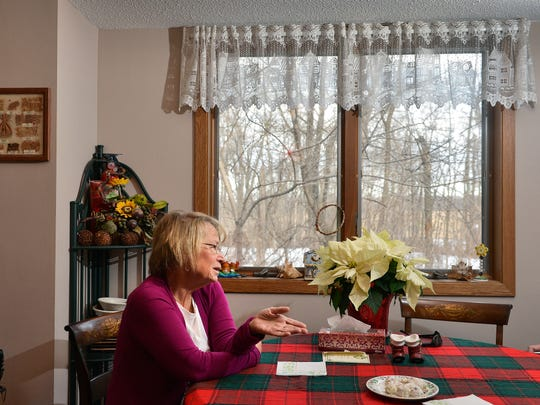 Patty Wetterling talks over a cup of coffee at home