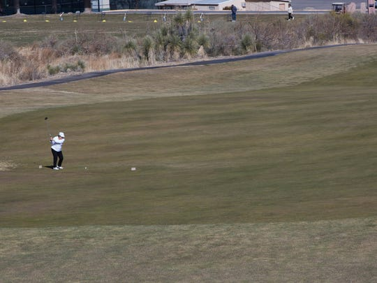 A private company called Southwest Golf Management is in the process of buying Picacho Hills Country Club, located in the community of Picacho Hills just west of Las Cruces. But some details, such as the purchase of a liquor license, remain up in the air. Members are seen playing golf at the facility in this January 2018 file photo.