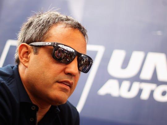 Juan Pablo Montoya at the Le Mans 24 Hour race in France