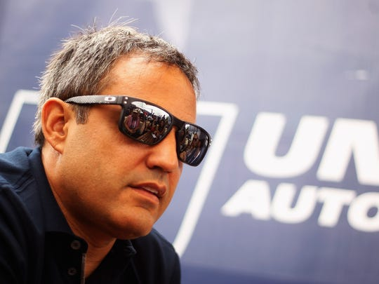Juan Pablo Montoya at the Le Mans 24 Hour race in France