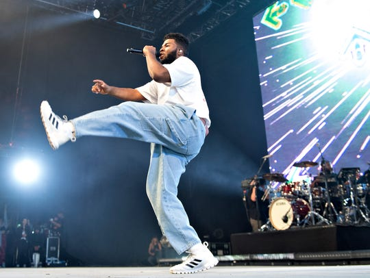Khalid performs during the Roskilde Festival, in Roskilde,