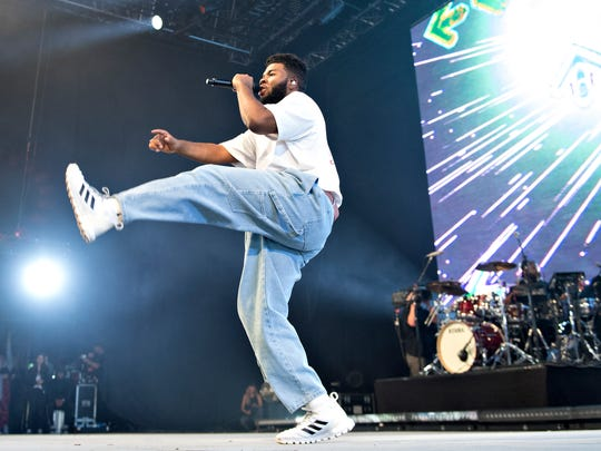 Khalid performs during the Roskilde Festival, in Roskilde, Denmark on July 5.