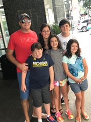 The Del Verne family on a trip to Chicago in the summer of 2017. Back row: Jeff, left, Shannon, Drew. Front row: Colt, left, Mia and Emma.