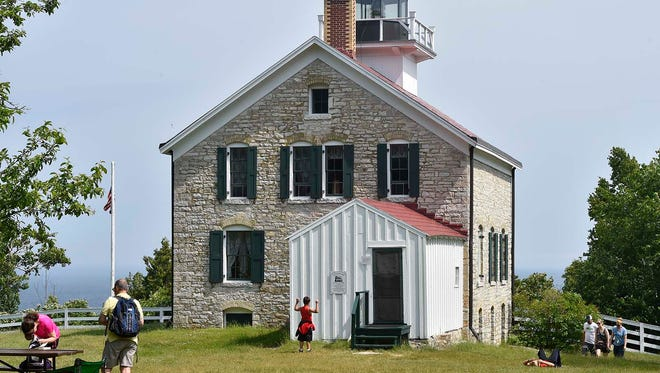 The original lighthouse was built in 1836 and was replaced with the current structure in 1858. It is the oldest lighthouse on Lake Michigan.