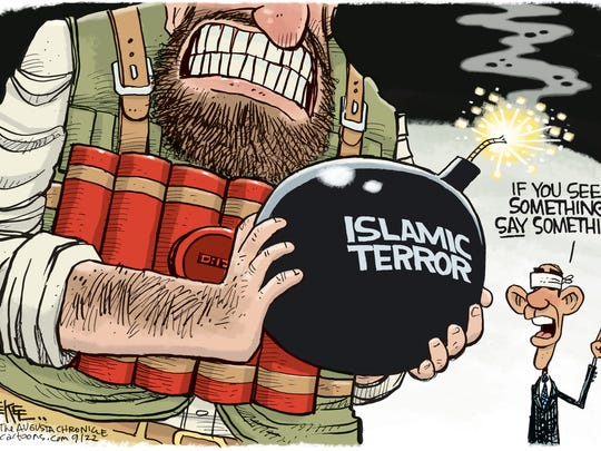 Islamic terror cartoon by Rick McKee