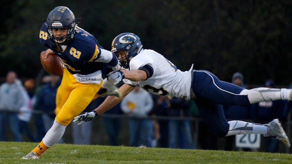 Jake Tahaney and Haslett could face DeWitt in the opening-round of the playoffs.