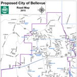 Proposed City of Bellevue road map