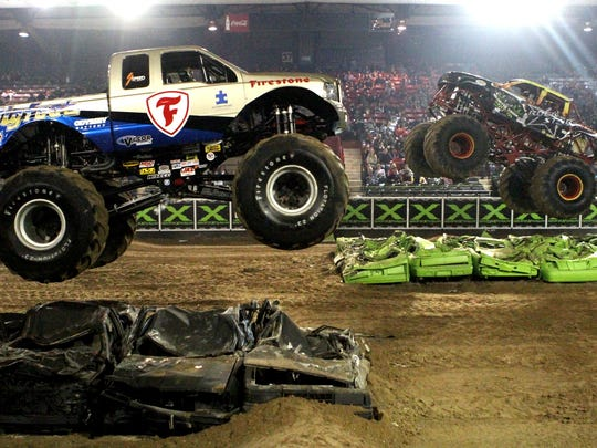 Bigfoot and Rock Star go head to head in a monster