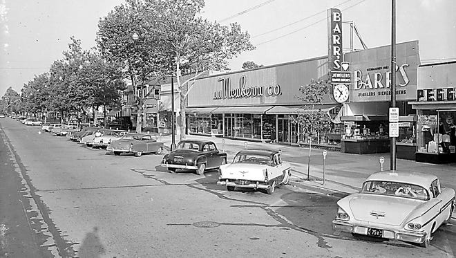 A view of 600 block of Landis Avenue as it looked in 1958, the year J.J. Newberry, which had  been in Vineland since 1928, opened this new 30,000-square-foot variety store.