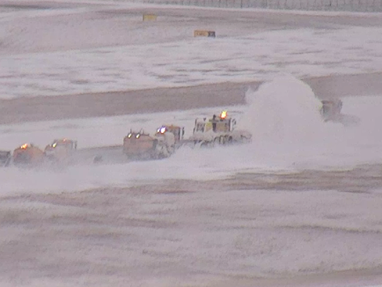 All Memphis runways were open, and no major delays of passenger flights were reported Tuesday.