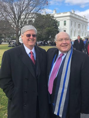 IBC Bank Corporate International Division head Dennis E. Nixon and Executive Vice President Gerry Schwebel received personal invitations from the White House to attend the signing ceremony of USMCA.