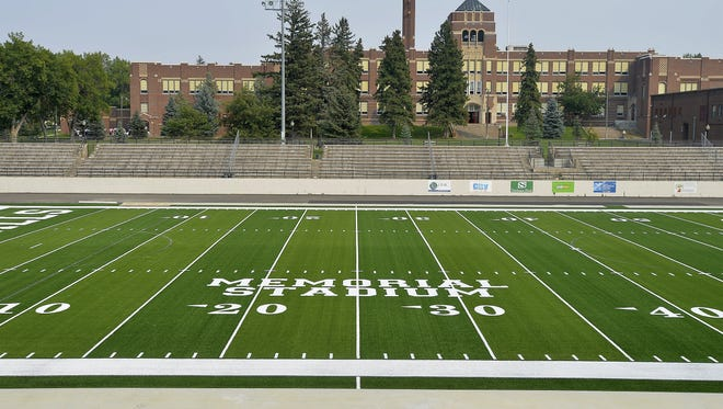 Memorial Stadium, which plays host to the crosstown football game between Great Falls High and C.M. Russell, will be re-dedicated to all U.S. veterans at a ceremony Friday night. Originally, it honored GFH alumni killed in World War I.
