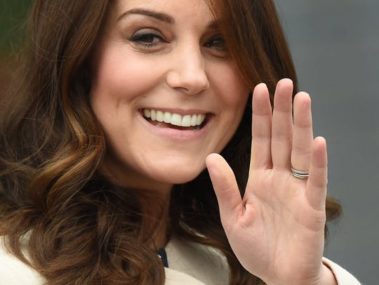 Duchess Kate of Cambridge in one of her last public