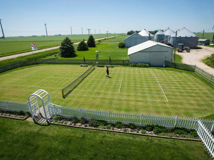 Mark Kuhn and his wife Denise have maintained a grass