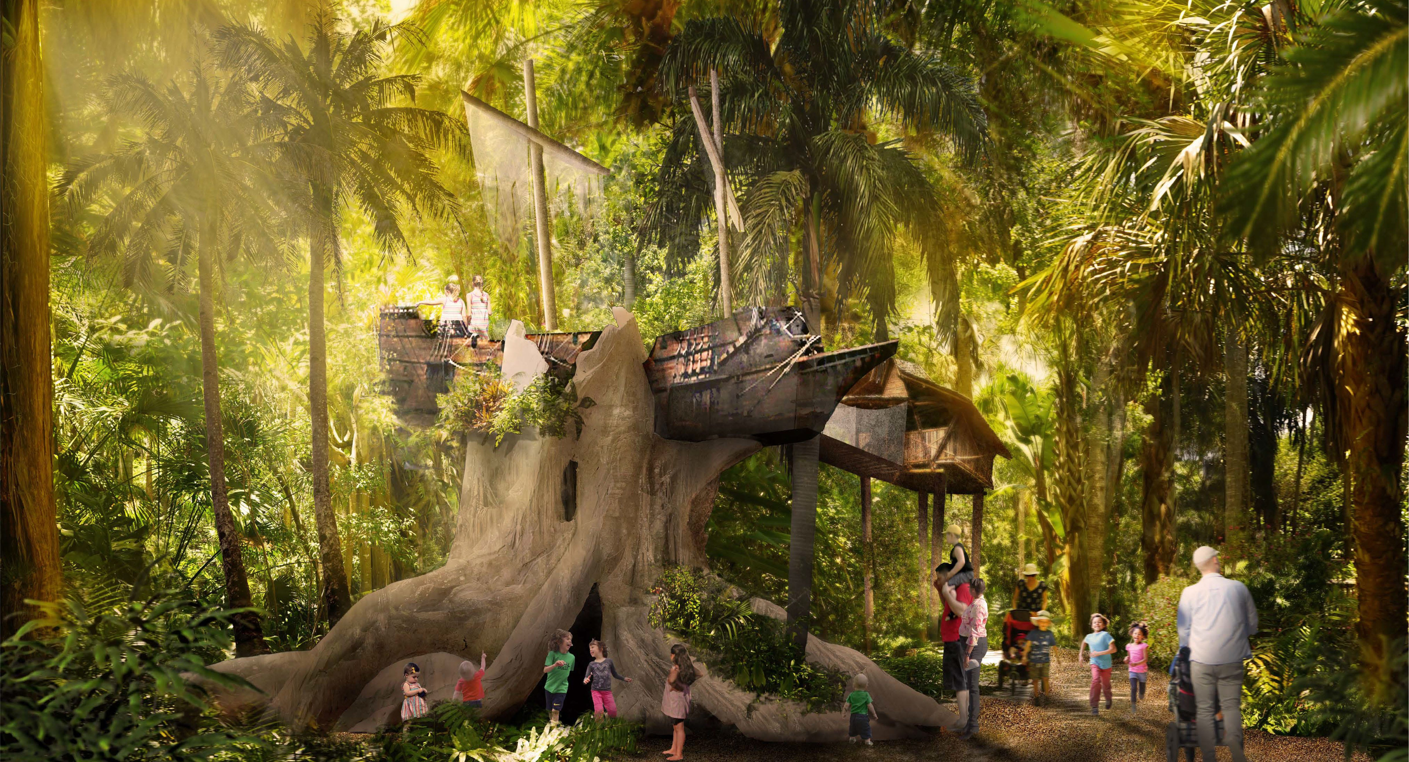A Pirate Ship Treehouse Will Be One Of The Features