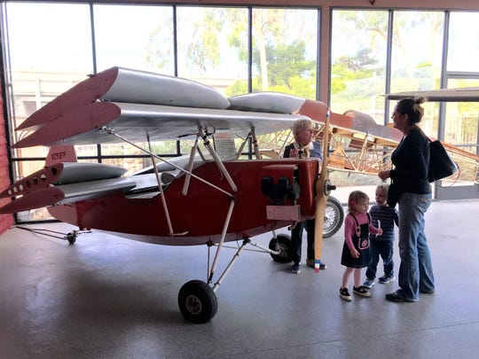 "The Aviation Museum of Santa Paula opens free on first Sundays. Visitors can see this model of a 1934 ""Flying Flea"" that was used as a scout aircraft by the French Resistance during World War II."