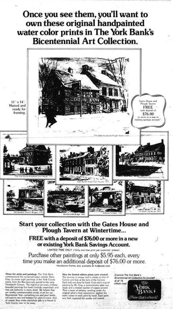 January 7, 1976 York Daily Record ad