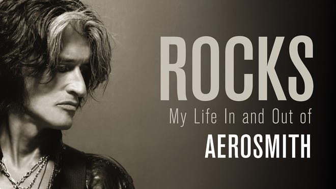 Cover of the book 'Rocks: My Life In and Out of Aerosmith' by Joe Perry with David Ritz.