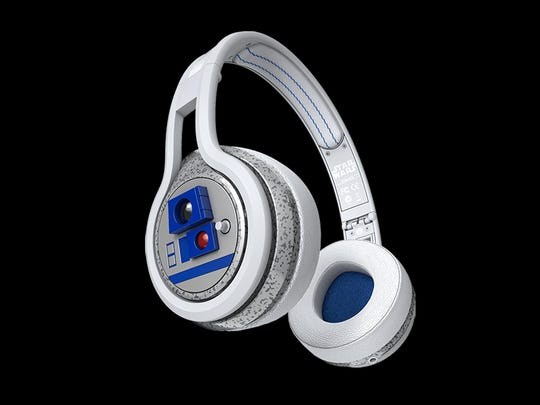 The SMS Audio R2-D2 Star Wars Second Edition headphones.