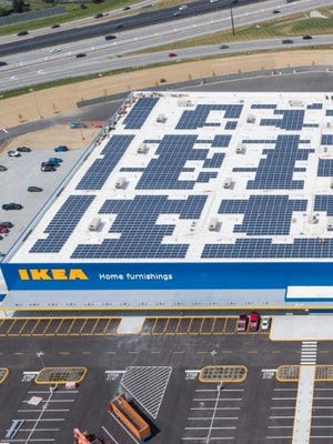 The solar array atop Ikea in Fishers is 3,999 panels
