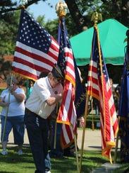 Members of Marion County veterans organizations post
