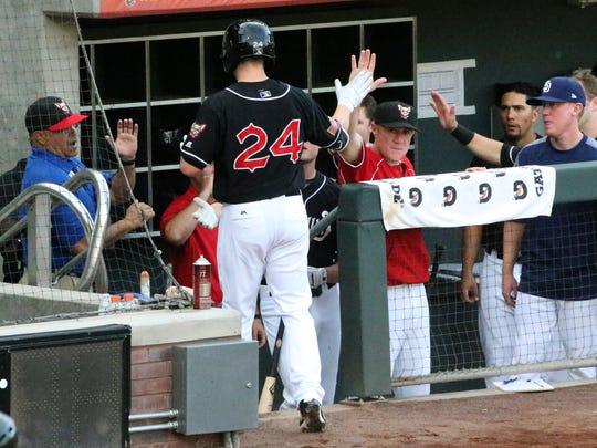 Chihuahuas designated hitter Ryan Schimpf, 24, enters