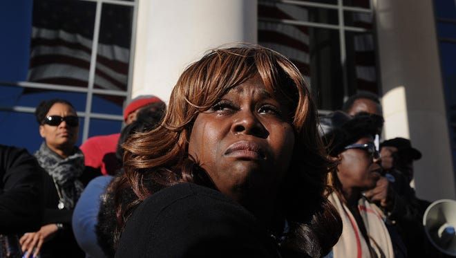 A woman with tears after the Michael Dunn verdict is announced Saturday in Jacksonville.