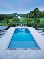A well-built pool in the right setting with water features