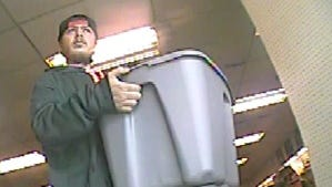 This person is accused of stealing antique brass trains and other items from a West Price Hill garage.