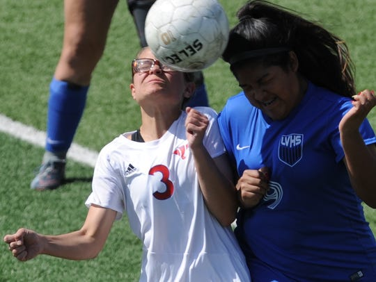 Cooper's Jocelyn Rangel (3) battles San Angelo Lake