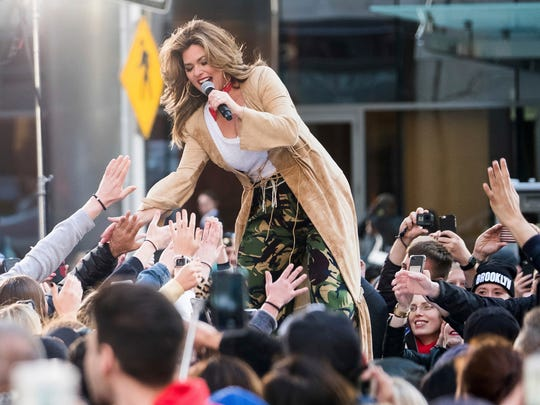 Shania Twain performs on NBC's 'Today' show.