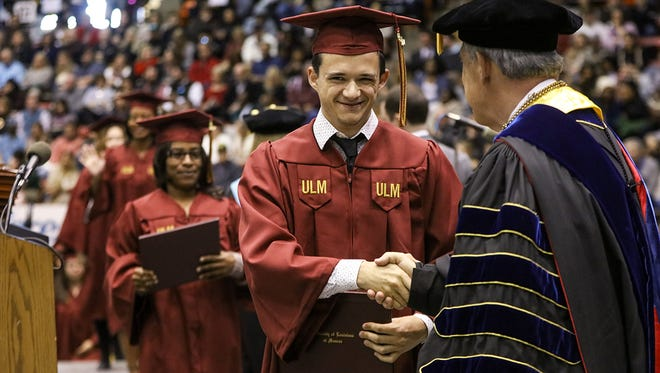 President Nick J. Bruno will present the graduates with their degrees from ULM's three colleges and graduate school.