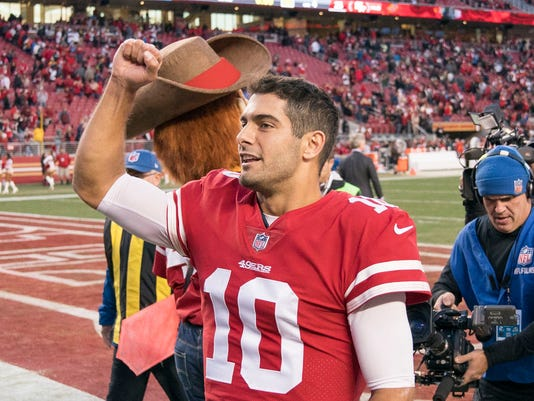 Jimmy G Niners >> Fantasy sizzlers and fizzlers: All Jimmy Garoppolo does is win