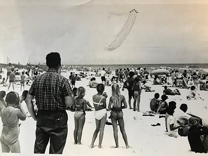 Blue Angel Air Show at Pensacola Beach, 1968.