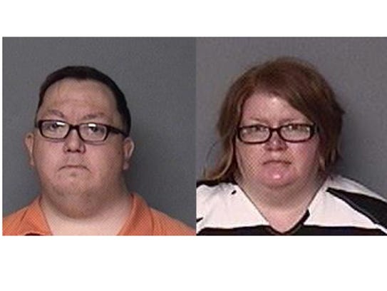 Mark Ray, left, and Misty Ray are charged in the death