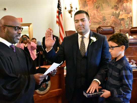Union County Freeholder Sergio Granados is sworn as